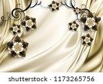3d illustrated wallpaper design ... | Shutterstock . vector #1173265756