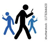 walking people with a mobile... | Shutterstock .eps vector #1173266623