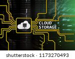 cloud data storage concept on... | Shutterstock . vector #1173270493