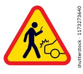 pay attention while walking | Shutterstock .eps vector #1173273640