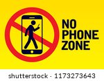 no phone zone sign | Shutterstock .eps vector #1173273643