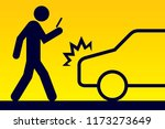 pay attention while walking | Shutterstock .eps vector #1173273649