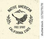 american eagle typography.... | Shutterstock .eps vector #1173275170