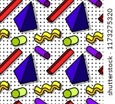 pattern in the style of the 80...   Shutterstock .eps vector #1173275320