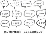 set of speech bubble icon