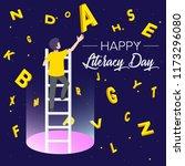 international literacy day...   Shutterstock .eps vector #1173296080