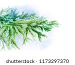 forest branch of spruce in the... | Shutterstock . vector #1173297370