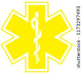 medical symbol of the emergency ... | Shutterstock . vector #1173297493