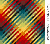 vintage 70s colors striped or... | Shutterstock .eps vector #1173297793