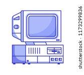 retro computer from 90s.... | Shutterstock .eps vector #1173299836
