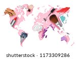 map of the global cosmetics... | Shutterstock . vector #1173309286