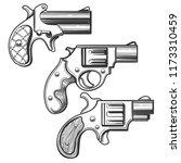 set of retro pistols. three... | Shutterstock .eps vector #1173310459