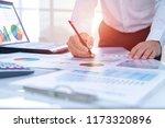 businessman in the office... | Shutterstock . vector #1173320896
