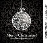 christmas greeting card.... | Shutterstock . vector #117332239