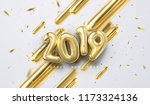 happy new 2019 year. vector... | Shutterstock .eps vector #1173324136
