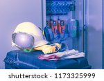 industrial working with safety... | Shutterstock . vector #1173325999