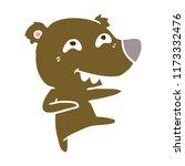flat color style cartoon bear...   Shutterstock .eps vector #1173332476