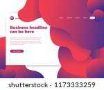 awesome red fluid landing page...