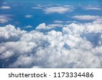blue sky  white fluffy clouds... | Shutterstock . vector #1173334486