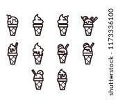 ice cream icons | Shutterstock .eps vector #1173336100