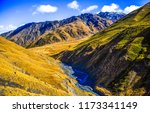 mountain hill valley summit... | Shutterstock . vector #1173341149