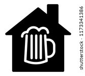 beer house solid icon. house... | Shutterstock .eps vector #1173341386
