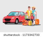 the family is going to travel... | Shutterstock .eps vector #1173342733