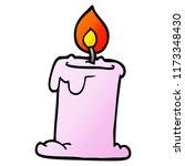 cartoon doodle lit candle | Shutterstock .eps vector #1173348430