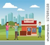 restaurant building scenery | Shutterstock .eps vector #1173351133