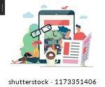 business series   news or... | Shutterstock .eps vector #1173351406