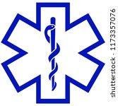 medical symbol of the emergency ... | Shutterstock . vector #1173357076