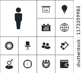 vector set of business icons.... | Shutterstock .eps vector #1173359983
