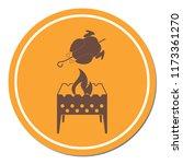 brazier and chicken icon....   Shutterstock .eps vector #1173361270