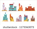 ancient castles and fortresses...   Shutterstock .eps vector #1173363073