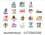 run sport club logo templates... | Shutterstock .eps vector #1173363100