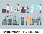 scientists invention in robotic ... | Shutterstock .eps vector #1173363109