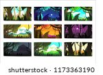 tropical jungle landscapes set... | Shutterstock .eps vector #1173363190