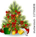 christmas tree decoration | Shutterstock . vector #117336838
