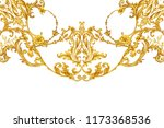 golden baroque decorative... | Shutterstock . vector #1173368536