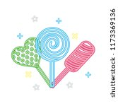 sweet candy lollipops hard... | Shutterstock .eps vector #1173369136