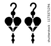earrings with hearts solid icon....   Shutterstock .eps vector #1173371296