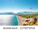 panoramic bird view of antalya...   Shutterstock . vector #1173373516