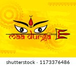 durga puja festival background... | Shutterstock .eps vector #1173376486