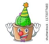 clown mascot star cactus...   Shutterstock .eps vector #1173377683