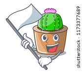 with flag mascot star cactus...   Shutterstock .eps vector #1173377689