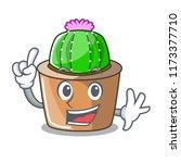 finger mascot star cactus...   Shutterstock .eps vector #1173377710
