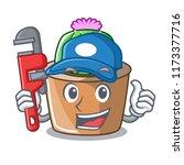 plumber mascot star cactus...   Shutterstock .eps vector #1173377716