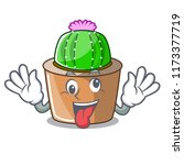crazy mascot star cactus...   Shutterstock .eps vector #1173377719