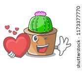 with heart cartoon star cactus... | Shutterstock .eps vector #1173377770