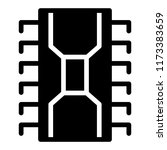 transistor solid icon. chip... | Shutterstock .eps vector #1173383659